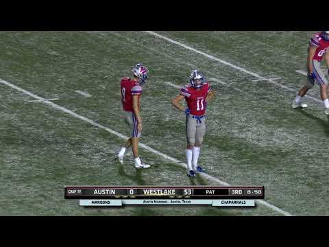 Fumble Recovery Touchdown Jake Ehlinger - Westlake vs Austin High 2018