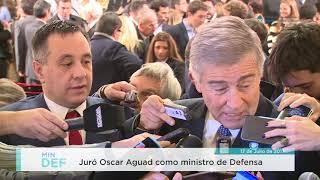 Juró Oscar Aguad como ministro de Defensa