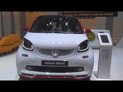 Smart Fortwo Coupé Ushuaïa Edition 66 kW Twinamic (2016) Exterior and Interior in 3D