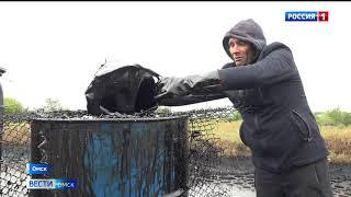 В посёлке Степной ликвидируют мазутное озеро