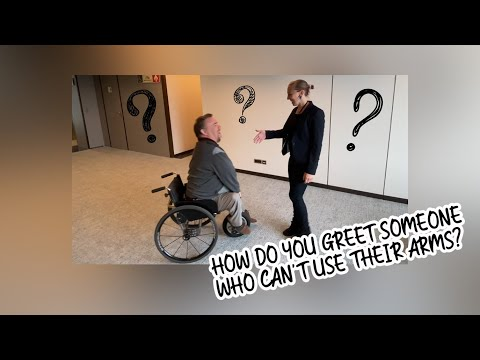 HOW TO GREET SOMEONE WITH A DISABILITY