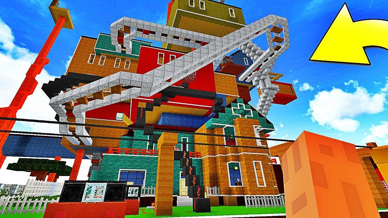 On S Infiltre Dans La Nouvelle Maison De Mon Voisin Hello Neighbor Minecraft