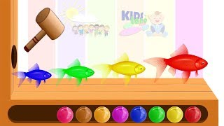 Learn Colors With Animal Fish WOODEN FACE HAMMER XYLOPHONE Toddlers Soccer Balls For Kids