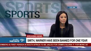 BREAKING NEWS: Smith, Warner banned for one year