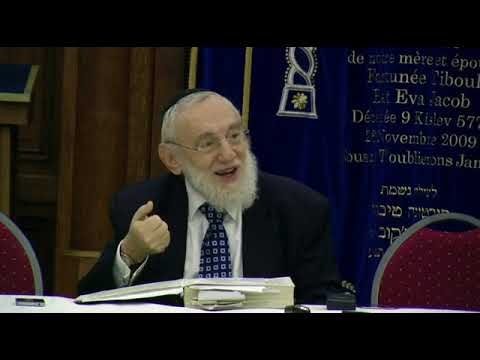 Cours du Grand Rabbin de Paris Michel Gugenheim du 18 novembre 2012