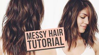Messy Waves Hair Tutorial | MeganBatoon