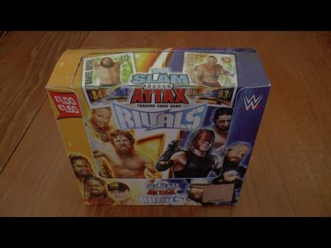 YouTube PREMIERE ☆ UNBOXING BOOSTER BOX ☆ topps SLAM ATTAX WWE RIVALS trading card game ☆ OPENING
