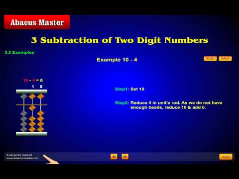 Abacus Math - AbacusMaster Child Subtraction