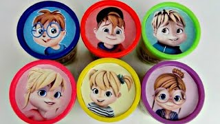ALVINNN!!! and the Chipmunks, Chipettes, Playdoh Lid Toy Surprises | Toys Unlimited - YouTube