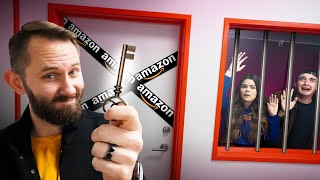 I Locked My Employees In An Escape Room Made With Only Amazon Products!