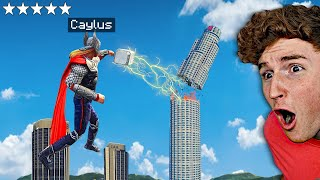 Playing As THOR In GTA 5.. (Superhero Mod)
