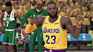 NBA 2K20 Gameplay - Los Angeles Lakers vs Boston Celtics Game 7 NBA Finals – NBA 2K20 PS4