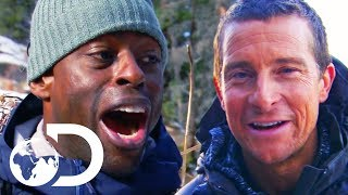 Sterling K. Brown Is Terrified Of Raccoons! | Running Wild With Bear Grylls