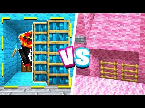 Minecraft SECRET ROOM Boy vs Girl Challenge!