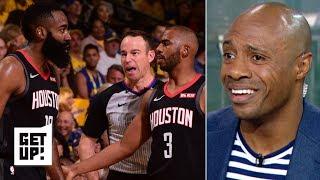 Warriors vs. Rockets Game 1 breakdown: Was James Harden fouled? | Get Up!