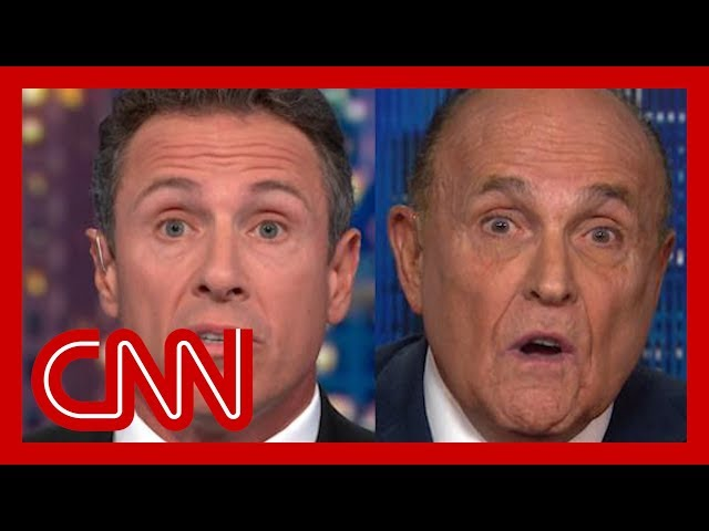 Chris Cuomo clashes with Rudy Giuliani over Ukraine