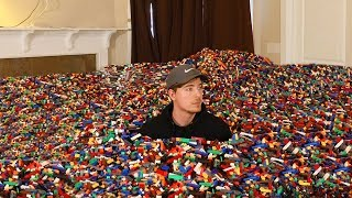 I Put 10 Million Legos in Friend's House