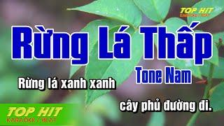 Rừng Lá Thấp Karaoke Tone Nam Nhạc Sống   TOP HIT KARAOKE