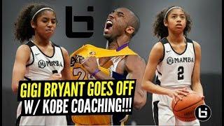 Kobe's Daughter Gigi Bryant GOES OFF w/ Kobe Coaching Against OLDER PLAYERS!!