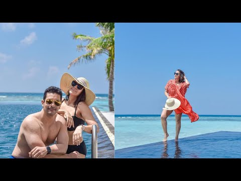 Neha Dhupia, her husband Maldives vacation with daughter Mehr