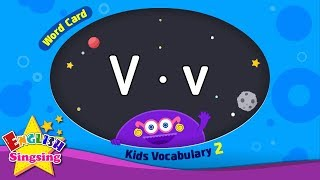 "Kids vocabulary compilation ver.2 - Words Cards starting with V, v - Repeat after ""Ting (sound)"""