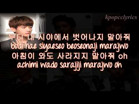 EXO K - Don't Go (나비소녀) Color Coded Lyrics w/ pictures
