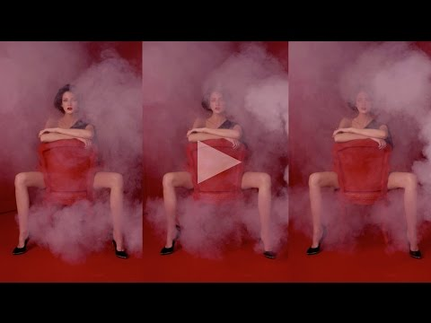 ceft and company: smoke never underdressed ad with model cris herrmann director karen collins