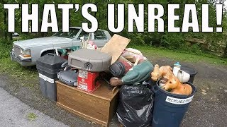 I FOUND ALL OF THIS IN THE TRASH! Garbage Day Picking!
