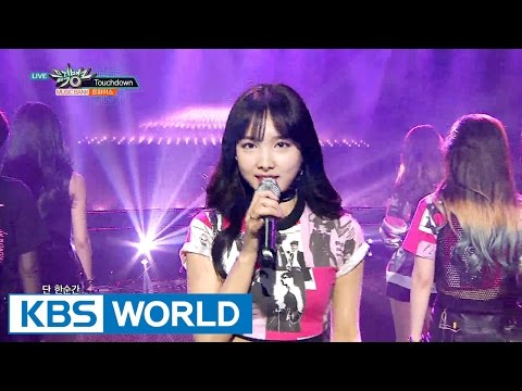 TWICE (트와이스) - Touchdown / Cheer Up [Music Bank COMEBACK / 2016.04.29]