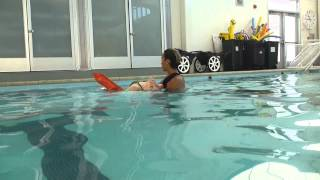 Lifeguarding Drill: Kickback, Eggbeater Kick with One Arm Towing Variation