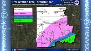 Oklahoma Weather Forecast: Feb. 19, 2019