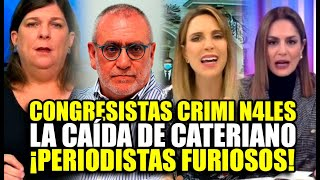 ¡BRUT4L! PERIODISTAS DE TODOS LOS CANALES PUSIERON EL GRITO AL CIELO TRAS LA CAÍDA DE CATERIANO