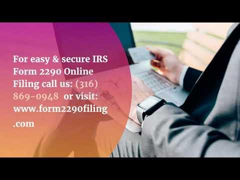 IRS Form 2290 | Heavy Road Tax Form 2290 | 2290 Tax