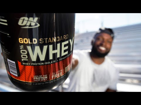 video Optimum Nutrition (ON) Gold Standard 100% Whey Protein Powder – 5 lbs, 2.27 Kg