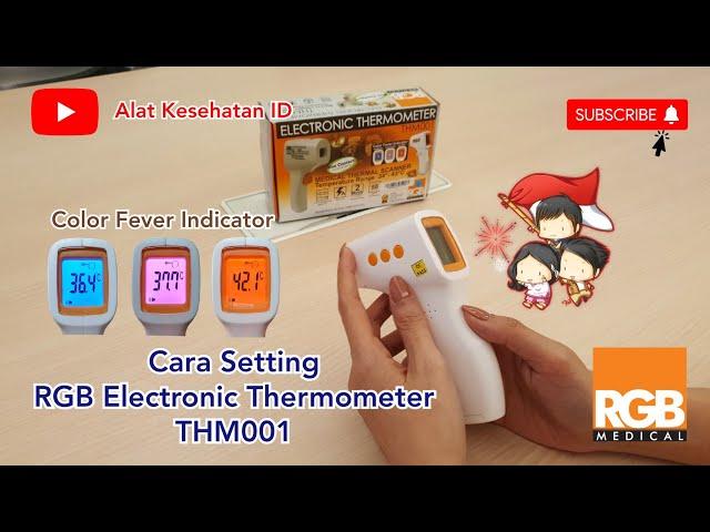 EMIINDO - Cara Setting RGB Electronic Thermometer THM001