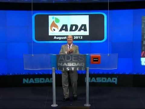 ADA-ES, Inc. (NASDAQ: ADES) Rings NASDAQ Closing Bell 8-14-2012