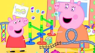 Peppa Pig Official Channel | The Marble Run Challenge with Peppa Pig