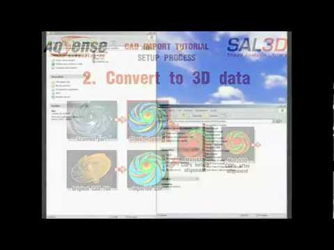SAL3D CAD Import Tool tutorial