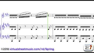"Antonio Vivaldi's Concerto ""Spring"" from Four Seasons sheet music for violin and piano - Video Score"