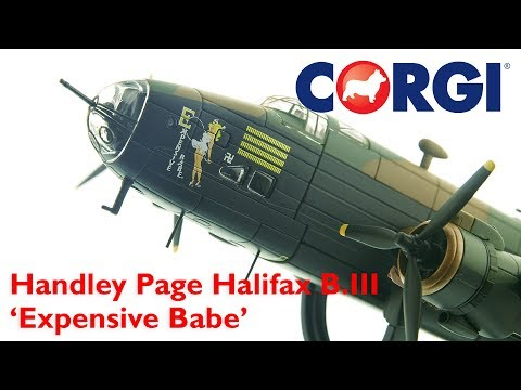 Corgi 1:72 Handley Page Halifax B.III LV937/MH-E 'Expensive Babe', RAF No.51 Squadron, Snaith, March 1945
