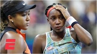 Coco Gauff and Naomi Osaka's emotional joint postmatch interview | 2019 US Open