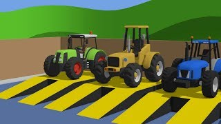 Learn Colors with Tractor and other machines & Cartoon for babies   Compilation / Kolory #BAJKI