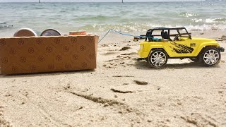 Toys for kids | Toy jeep with waste collecting trolley | #boomboom |