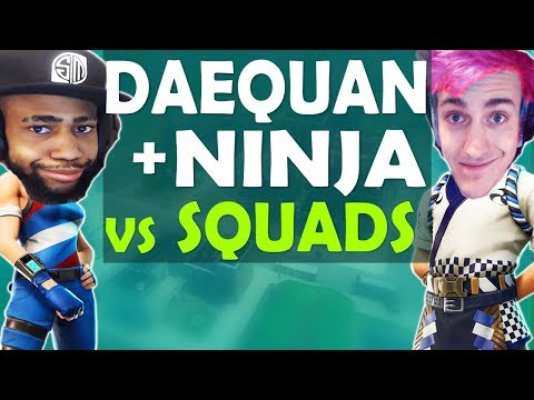 DAEQUAN & NINJA DESTROY SQUADS | HIGH KILL INSANE GAME - (Fortnite Battle Royale)