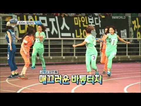 【TVPP】Apink -  W 400m Relay Race, 에이핑크 - 여자 400m 릴레이 @ Idol Star Championships