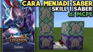 ✔ Wow! Cara Membuat Skill 1 SABER MLBB di Mcpe [] Command Minecraft PE