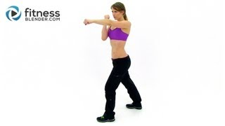 Fast Fat Burning Workout - Cardio Kickboxing HIIT Routine with Fitness Blender