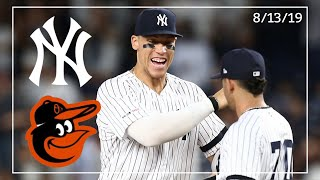 Baltimore Orioles @ New York Yankees | Game Highlights | 8/13/19