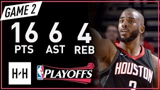Chris Paul Full Game 2 Highlights Warriors vs Rockets 2018 NBA Playoffs WCF - 16 Pts, 6 Ast, 4 Reb!