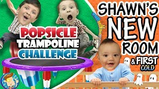 POPSICLE Trampoline Challenge   Shawn's New Bedroom + Baby's First Cold ๑◕︵◕๑ FUNnel VLOG